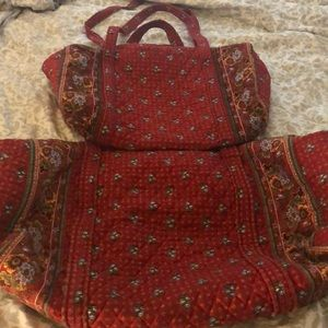 Vintage Vera Bradley Provincial Red